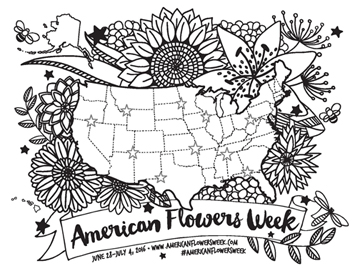 American Flowers Week Map