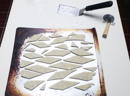 Place shortbread diamonds on an ungreased baking sheet. The cookies will not expand so you can crowd them together.